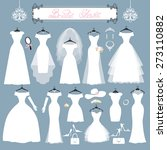 wedding dresses in different... | Shutterstock .eps vector #273110882