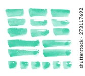collection of watercolor... | Shutterstock . vector #273117692