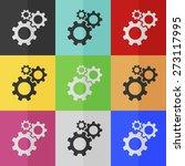 cogwheel gear mechanism vector... | Shutterstock .eps vector #273117995