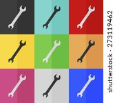 wrench vector icon   colored...