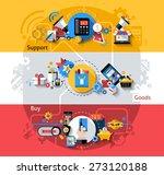 e commerce horizontal banners... | Shutterstock .eps vector #273120188