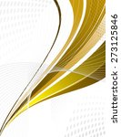 golden vector swoosh. abstract... | Shutterstock .eps vector #273125846