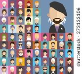 collection of avatars8    65... | Shutterstock .eps vector #273133106
