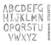 hand drawn watercolor alphabet  ... | Shutterstock .eps vector #273133772