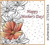 happy mother's day poppy | Shutterstock .eps vector #273134216