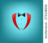 red tuxedo vector with bow   Shutterstock .eps vector #273138056