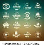 summer holidays design elements ... | Shutterstock .eps vector #273142352