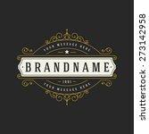 luxury logo template flourishes ... | Shutterstock .eps vector #273142958