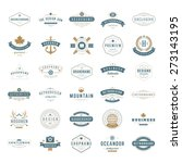 retro vintage insignias or... | Shutterstock .eps vector #273143195