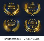 vector quality emblems with... | Shutterstock .eps vector #273149606