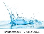 water splash with reflection | Shutterstock . vector #273150068