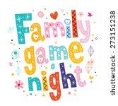 family game night   Shutterstock .eps vector #273151238
