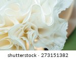 wedding dress hanging on luster ... | Shutterstock . vector #273151382