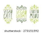 hand sketched typographic... | Shutterstock .eps vector #273151592