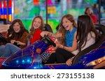 group of kids or girls having...   Shutterstock . vector #273155138