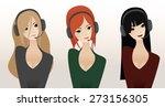 girl operator | Shutterstock .eps vector #273156305