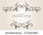 vintage frame | Shutterstock .eps vector #27316585
