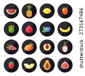 fruit icons vector set. modern... | Shutterstock .eps vector #273167486