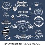 set of calligraphic elements... | Shutterstock .eps vector #273170738