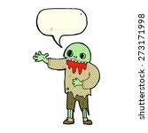 cartoon spooky zombie with...   Shutterstock .eps vector #273171998