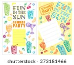 set of cocktail party... | Shutterstock .eps vector #273181466