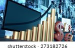 stock exchange or business... | Shutterstock . vector #273182726