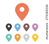 vector colorful map labels...