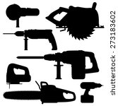 electric tools isolated icons... | Shutterstock .eps vector #273183602