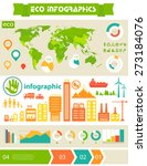 flat style design eco city... | Shutterstock .eps vector #273184076