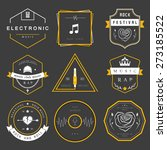 vector badges rock music  rap ... | Shutterstock .eps vector #273185522