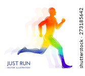 running man. colorful sports... | Shutterstock .eps vector #273185642