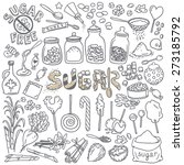 different types of sugar.... | Shutterstock .eps vector #273185792