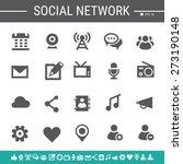 social network simple black...