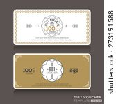 gift certificate voucher coupon ...   Shutterstock .eps vector #273191588