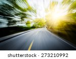 Road In Motion Blur         ...