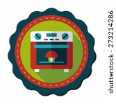 kitchenware oven flat icon with ... | Shutterstock .eps vector #273214286