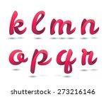 red ribbon script font | Shutterstock .eps vector #273216146