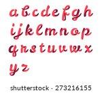 ribbon script font | Shutterstock .eps vector #273216155