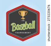 isolated label with baseball... | Shutterstock .eps vector #273220676