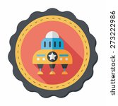 space flat icon with long... | Shutterstock .eps vector #273222986