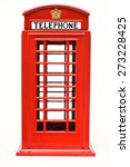 Red Phone Booth Isolated On...