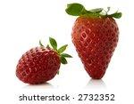 fresh strawberries over white... | Shutterstock . vector #2732352