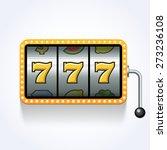 lucky seven on slot machine | Shutterstock .eps vector #273236108