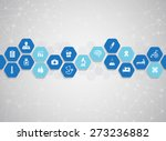 medical background and icons to ... | Shutterstock .eps vector #273236882