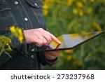 female farmer using digital... | Shutterstock . vector #273237968