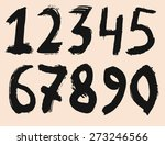 alphabet numbers hand drawn... | Shutterstock .eps vector #273246566