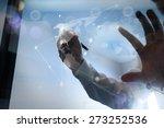 double exposure of businessman... | Shutterstock . vector #273252536