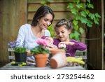 portrait of a mother daughter... | Shutterstock . vector #273254462