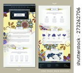 floral one page website...