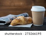 take away coffee and fresh... | Shutterstock . vector #273266195